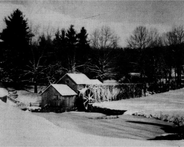 A winter scene of Mabry Mill as it is today. Photograph by Jack T. Wilson.