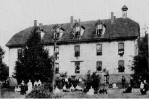 Willis Normal School. Photo by Mrs. O.L. Hendrick. Building was standing until this year (when it was demolished) on highway 221 in Willis, Virginia. Photo taken circa 1910.