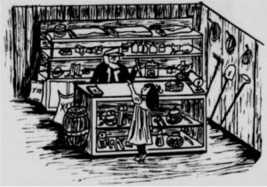 The Old Country Store. Illustration by Susan Thigpen.