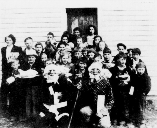 Christmas at the old Stuart School in Floyd County Virginia. Circa 1942.