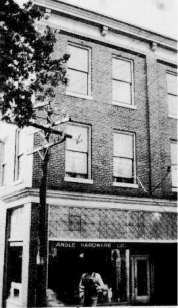 Dr. Cobbs' first office in Rocky Mount. The building burned in 1936. The waiting room was shared with Dr. Davie E. Stone, Dentist.