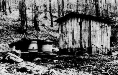 Shed where maple sap is collected after being tapped from the tree.