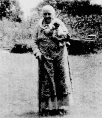 A Tribute to Mountain Mothers - Sarah Belcher Hubbard of Patrick County, Virginia shown here at age 93 in 1947. She set a fine example of Mountain Motherhood. This was the Front Cover Photo of the May 1988 issue of The Mountain Laurel.