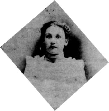 Josephine Cameron Strickler Sweeny in 1889 when she was 18 years old.