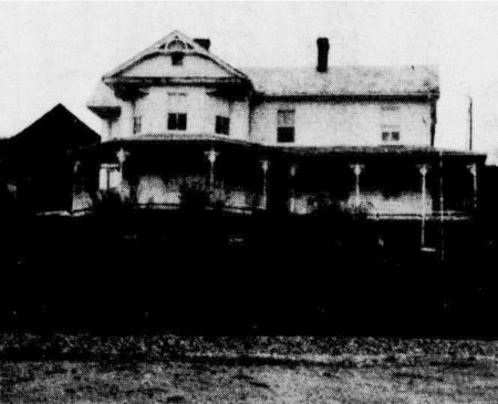 Recent [1989] photograph of the Dix house on the hill above the Crockett Depot in Photo # 3.
