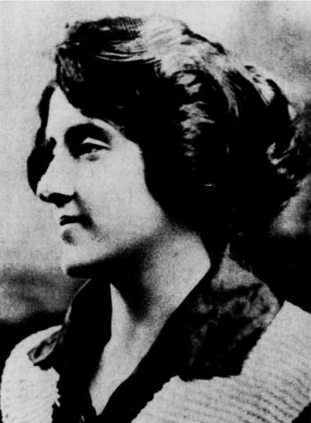 Elizabeth Bernice Roche - photograph circa 1919. Front Cover photograph May 1990 edition.