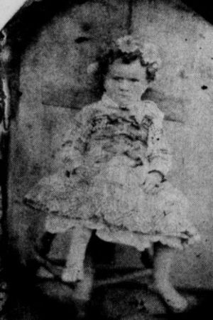 Esther Bartlett (Poff), young daughter of George and Nancy King Bartlett of Copper Hill (Floyd County), Virginia.