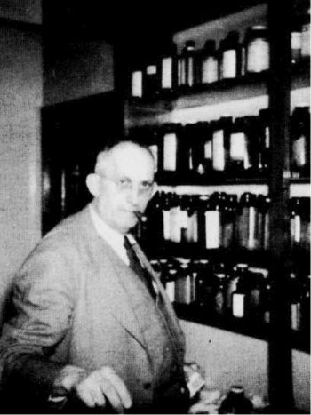 Dr. A. M. Gates, Art's father, in his office at Ararat, Virginia, 1954. He was a country doctor who served the needs of this community for many years.
