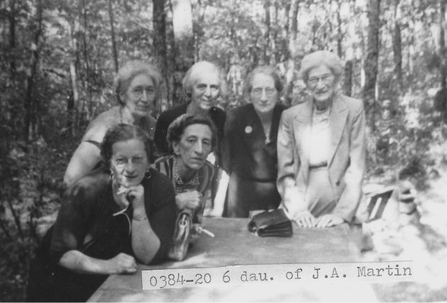[0384-20] On the Blue Ridge Parkway the last time all six of us were together; all sisters.