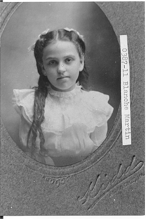 [0387-11] Blanche Martin (Photographic by Kidd's, Roanoke, Virginia.)