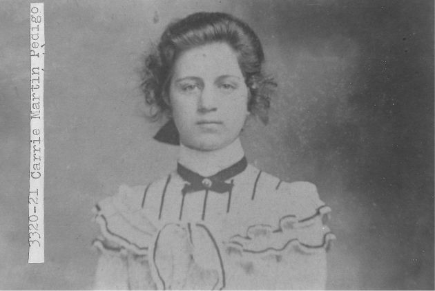 [3320-21] Carrie Lee Martin (Mrs. Pedigo), September 1900