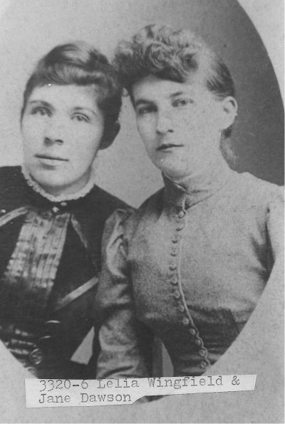 [3320-6] Lelia Wingfield and Jane Lawson (Photograph by Wampler, Charlottesville, Virginia)